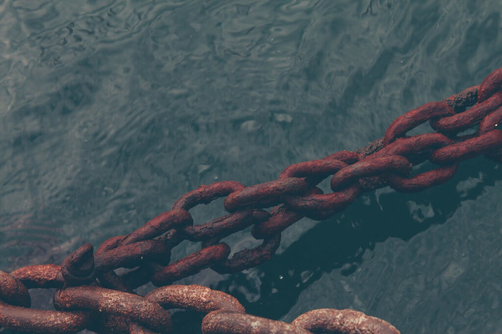 Imagen de unas cadenas de barco
