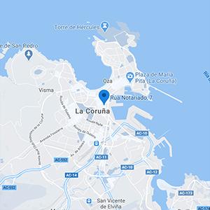mapa Clínica Help en A Coruña